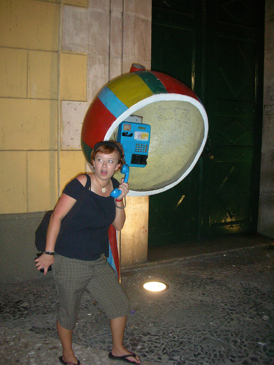 On the Phone in Brazil